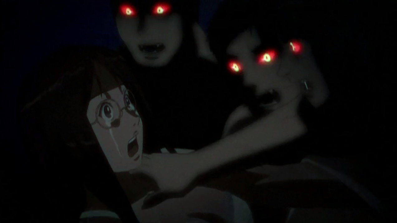 Hentai Vampire Girl in red eyed freaks = manga fans. guess who the girl is