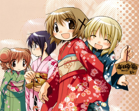 hidamari_sketch_meganekko_yukata_yuno_sae_hidmari_miyako_desktop_2000x1600_hd-wallpaper-569957