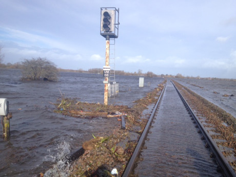 bridgwater rail floods