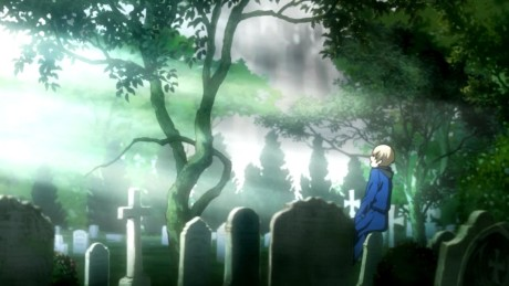 blood-blockade-battlefront-black-laughing-in-a-cemetery